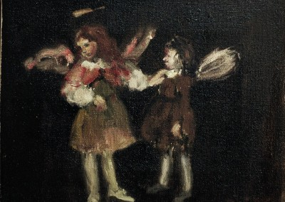 Angel Meets Fairy 2, oil on canvas, 2001, 25 x 30cm