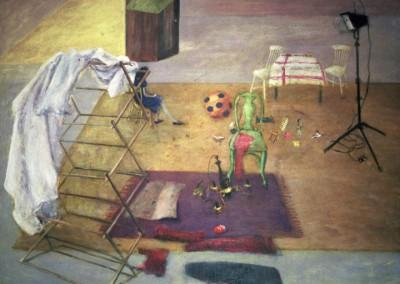 Around Eleven, oil on canvas, 1997, 210 x 230cm
