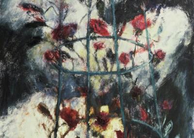 Around My Heart, oil on canvas, 1989, 90 x 50cm