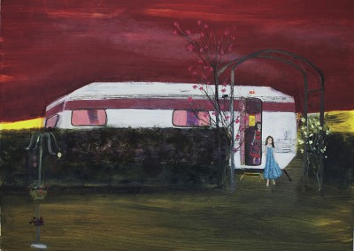 Caravan, oil and egg tempera on canvas, 2008, 76 x 100cm