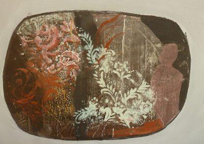 Fragment, fresco fragment on panel, 30 x 45cm, 2015