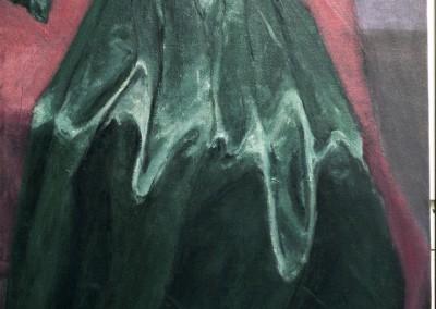 Green Satin Dress, oil on canvas, 1996, 100 x 60cm