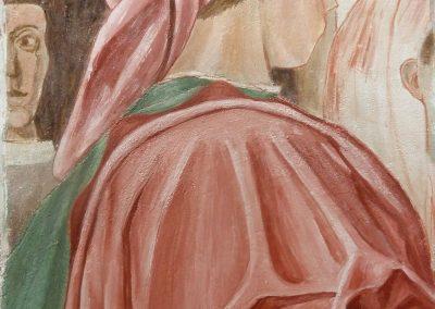 Man in Pink (after Piero della Francesca), fresco on panel, 2016, 45 x 30cm