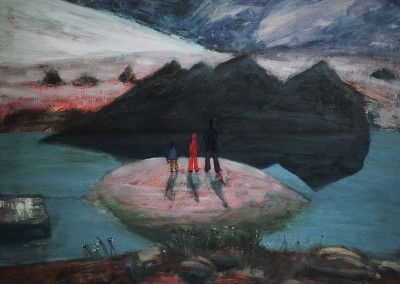 Reflection, oil on board, 2007, 36 x 50cm