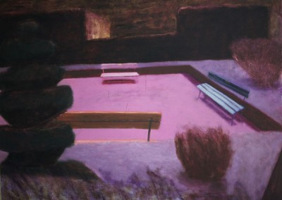Still in the Park, oil on canvas, 1996, 150 x 150cm