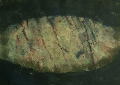 Stone, monoprint on paper, 1988, 40 x 50cm