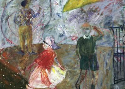Temperamental Weather, oil on canvas, 1987, 170 x 170cm