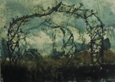 Through and Through, monoprint on paper, 1988, 40 x 50cm