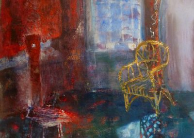 Two Chairs, oil and egg tempera on canvas, 120x80cm, 2016