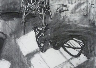 Wicker Chair, charcoal on paper, 60x40cm, 2016