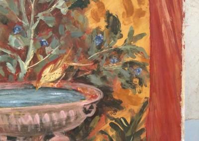 Fountain (detail), fresco on panel, 2015, 90 x 90cm