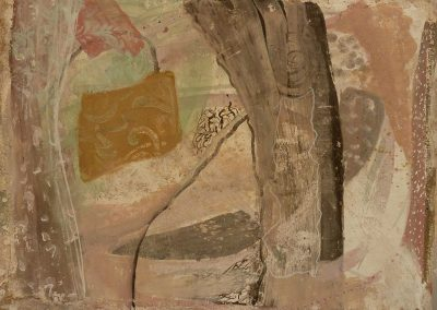 Garden, fresco on panel, 30 x 45cm, 2015