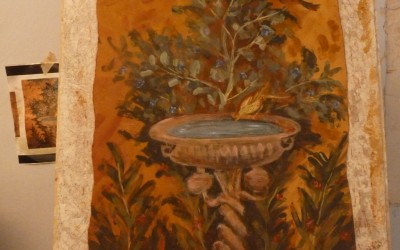 Fresco painting course in Bosa, Sardinia