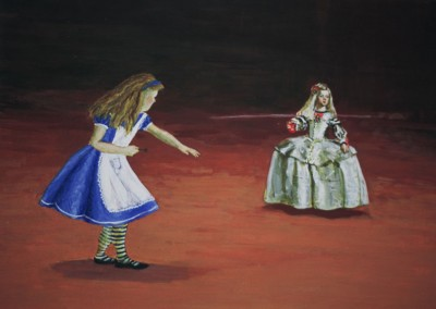Olivia Irvine, Alice and the Infanta, egg tempera on board, 2002, 25 x 36cm