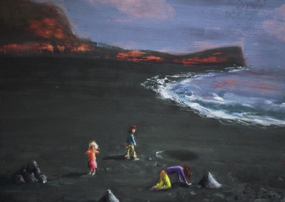 Olivia Irvine, Black Beach, oil on board, 2007, 29 x 33cm