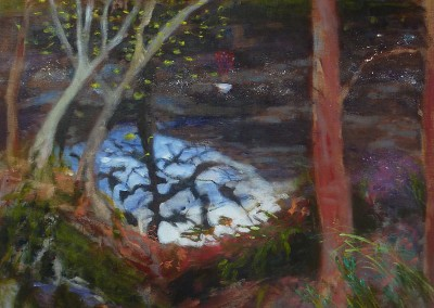 Olivia Irvine, Dell, oil and egg tempera on canvas, 2013, 90 x 70cm