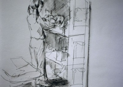 Olivia Irvine, Dolls' House, Drawing