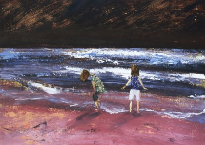 Olivia Irvine, Gulland Beach, oil on canvas, 2009, 33 x 43cm
