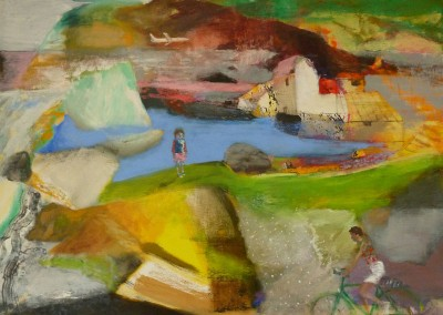 Iceland as I Had Imagined It to Be, oil and egg tempera on canvas, 2012, 80 x 111