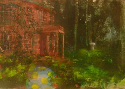 Landed Object, oil and egg tempera on canvas, 2010, 50 x76cm