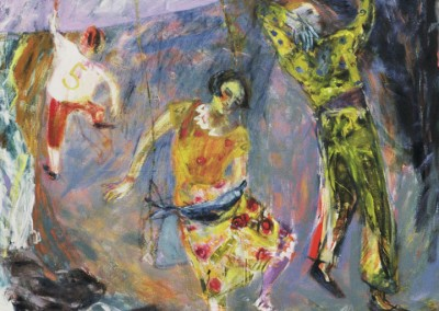 Olivia Irvine, Last Moment, oil on canvas, 1987, 155 x 155cm