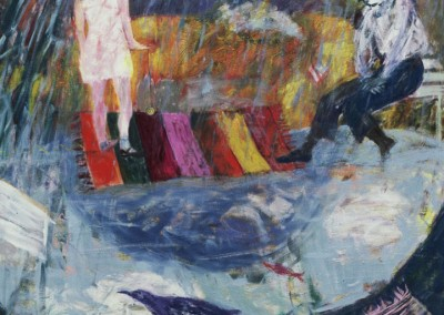 Olivia Irvine, Magic Carpet, oil on canvas, 1987, 165 x 165cm