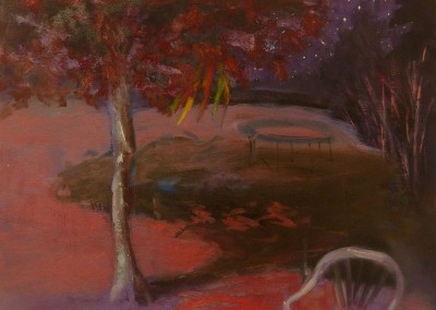 Olivia Irvine, Night Garden, oil and egg tempera on canvas, 2010, 34 x 44cm