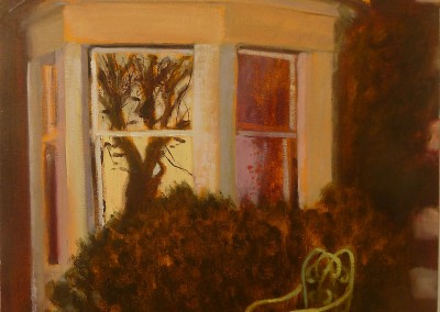 Sitting Out, oil on canvas, 2013, 53 x 40cm