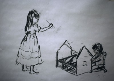 Olivia Irvine, Playing, Drawing