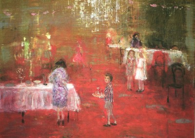 Reception, oil and egg tempera on canvas, 2010, 54 x 64cm