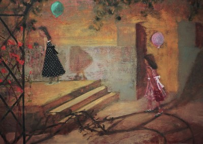 Olivia Irvine, Returning from the Party, oil and egg tempera on canvas, 2006, 70 x 50cm