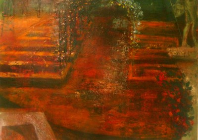Rosaleda Revisited, oil and egg tempera on canvas, 2012, 76 x 100cm