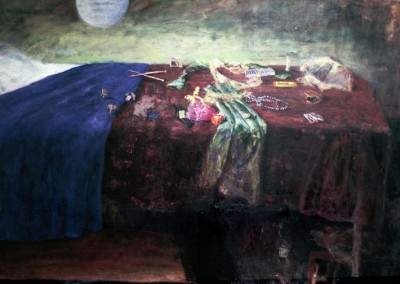 Olivia Irvine, Still Life, oil on canvas, 1998, 120 x 170cm