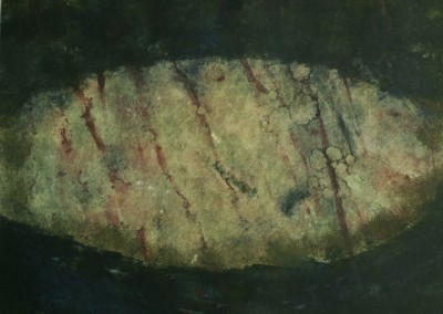 Stone, monoprint on paper, 1988, 40 x 50cm