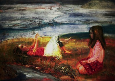 Olivia Irvine, Storytelling, oil and egg tempera on canvas, 2007, 72 x 100cm