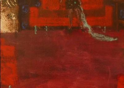 Olivia Irvine, Three Piece Suite, oil and egg tempera on board, 2013, 33 x 26cm