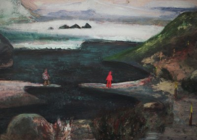 Towards the Glacier, oil on board, 2007, 60 x 37cm
