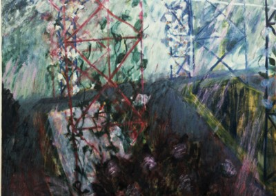 Olivia Irvine, Trellis, oil on canvas, 1989, 160 x160cm
