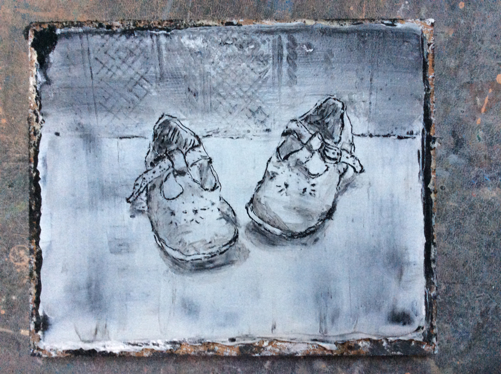 Olivia irvine, Live Painting at Edinburgh Art Fair