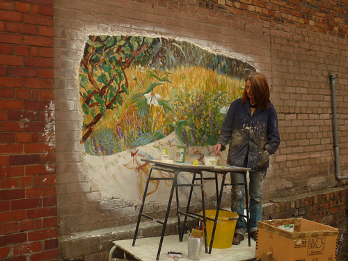Olivia irvine, Live Painting at Edinburgh Art Fair